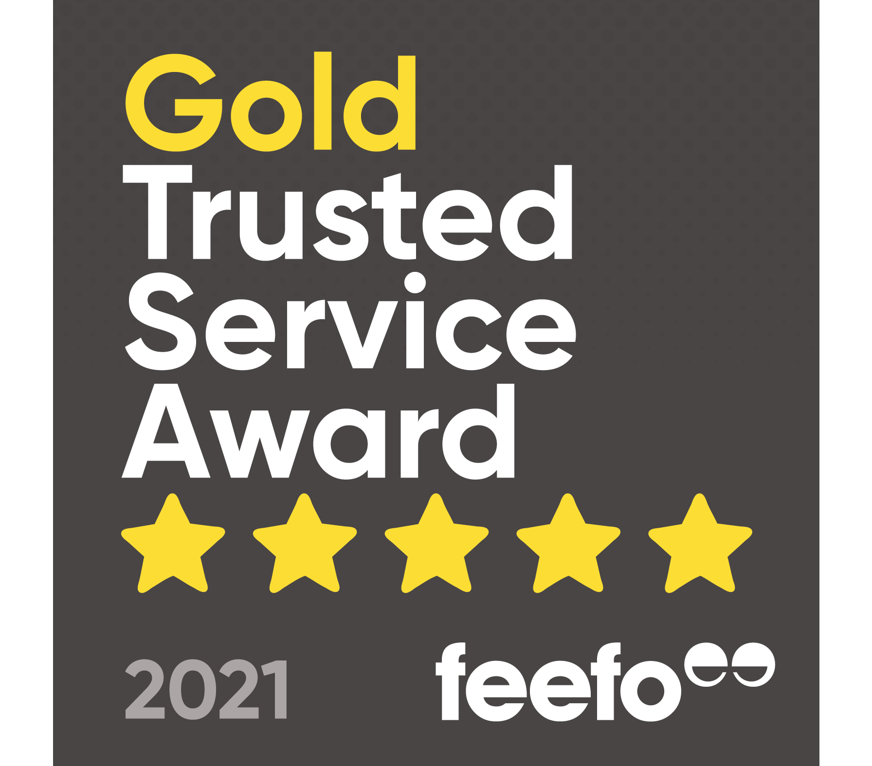 Winners of the Feefo Gold Trusted Service Award 2021